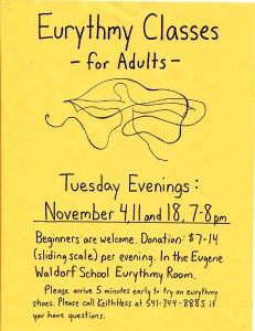 Tuesday Evening Eurythmy For Adults